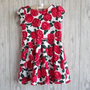 Gymboree Holiday Red Roses Dress Size 5